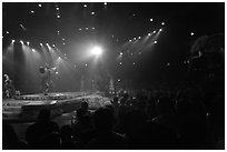 Circus show, Walt Disney World. Orlando, Florida, USA (black and white)