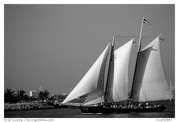 Historic sailboat. Key West, Florida, USA