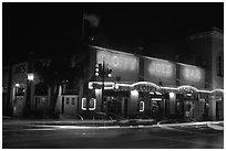 Sloppy Joe bar by night. Key West, Florida, USA (black and white)