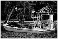 Airboat. Florida, USA ( black and white)