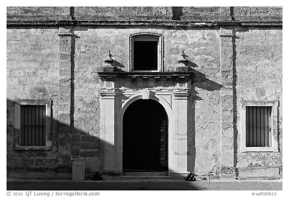 Fort Castillo de San Marcos. St Augustine, Florida, USA (black and white)