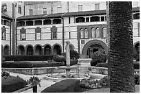 Main courtyard, Flagler College. St Augustine, Florida, USA (black and white)