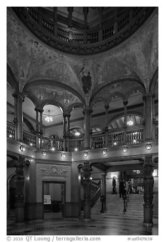 Lobby and rotunda, Flagler College. St Augustine, Florida, USA