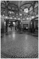 Foyer, Flagler College. St Augustine, Florida, USA (black and white)