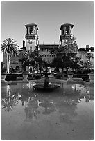 City Hall and Lightner Museum. St Augustine, Florida, USA ( black and white)