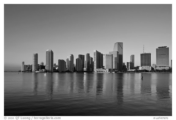 Miami Skyline. Florida, USA (black and white)