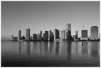 Miami Skyline. Florida, USA ( black and white)