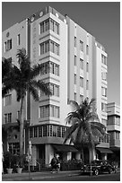 Art Deco Style Hotel, South Beach, Miami Beach. Florida, USA ( black and white)