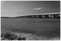 Old and new bridges, Bahia Honda Channel. The Keys, Florida, USA ( black and white)