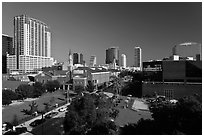 Downtown skyline. Orlando, Florida, USA ( black and white)