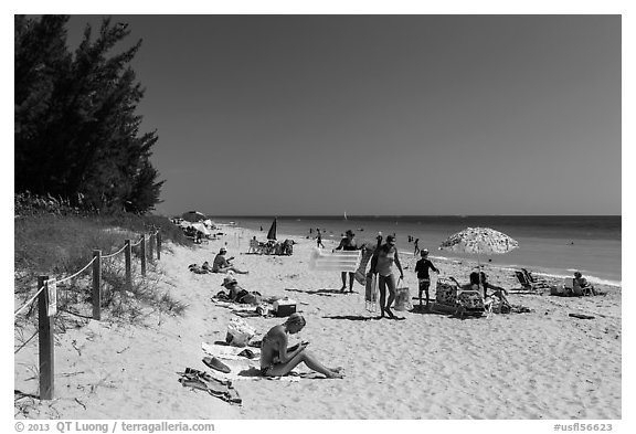 Captiva Beach, Captiva Island. Florida, USA (black and white)