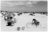 Siesta Beach, Sarasota. Florida, USA ( black and white)
