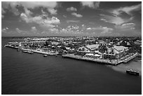 Waterfront. Key West, Florida, USA ( black and white)