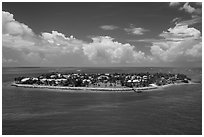 Sunset Key. Key West, Florida, USA ( black and white)