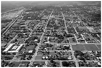 Aerial view of Homestead. Florida, USA ( black and white)