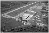 Aerial view of Homestead air force base. Florida, USA ( black and white)