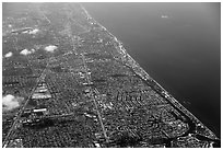 Aerial view of Fort Lauderdale. Florida, USA ( black and white)