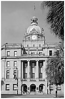Savannah City Hall. Savannah, Georgia, USA (black and white)