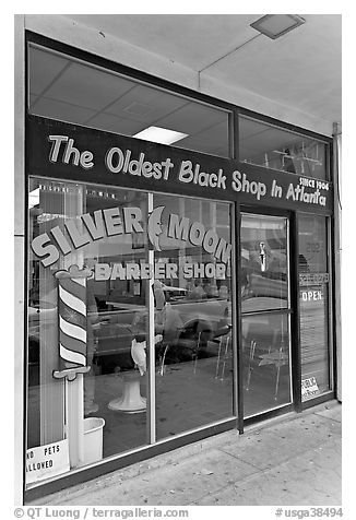 Silver Moon barber shop, oldest black shop in Atlanta. Atlanta, Georgia, USA