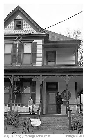 Birth Home of Dr. Martin Luther King, Jr, Martin Luther King National Historical Site. Atlanta, Georgia, USA (black and white)
