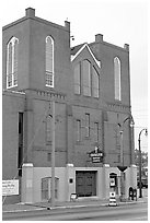 Historic Ebenezer Baptist Church, Martin Luther King National Historical Site. Atlanta, Georgia, USA ( black and white)