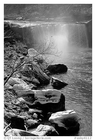 Cumberland falls in winter. Kentucky, USA