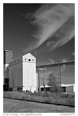 Silo. Louisiana, USA (black and white)