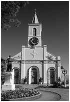 The church Saint-Martin-de-Tours, Saint Martinville. Louisiana, USA ( black and white)