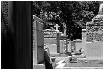 Tombs in Saint Louis cemetery. New Orleans, Louisiana, USA ( black and white)