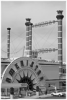 Ameristar casino riverboat. Vicksburg, Mississippi, USA (black and white)