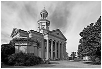 Historic courthouse. Vicksburg, Mississippi, USA (black and white)