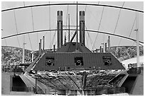Ironclad union gunboat Cairo, Vicksburg National Military Park. Vicksburg, Mississippi, USA (black and white)