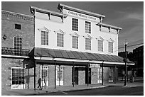 Corner historic drugstore and medical center. Vicksburg, Mississippi, USA (black and white)