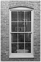 Coca Cola memorabilia seen from window. Vicksburg, Mississippi, USA (black and white)