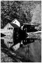 Mabry Mill, Blue Ridge Parkway. Virginia, USA ( black and white)