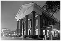 First Baptist Church at night. Columbia, South Carolina, USA (black and white)
