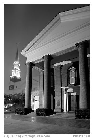 First Baptist Church, where the Ordinances of Secession were drawn. Columbia, South Carolina, USA (black and white)
