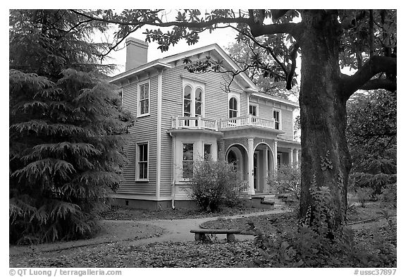 Childhood home of Woodrow Wilson. Columbia, South Carolina, USA (black and white)