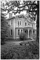 Boyhood home of president Wilson. Columbia, South Carolina, USA (black and white)