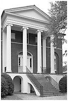 Robert Mills House. Columbia, South Carolina, USA (black and white)