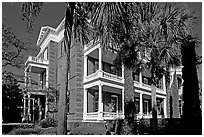 Calhoon Mansion. Charleston, South Carolina, USA (black and white)