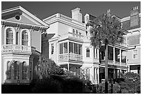 Antebellum architecture. Charleston, South Carolina, USA ( black and white)