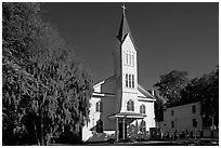 Tabernacle Baptist Church. Beaufort, South Carolina, USA (black and white)