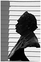 Robert Smalls memorial. Beaufort, South Carolina, USA ( black and white)