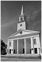 Baptist Church. Beaufort, South Carolina, USA (black and white)