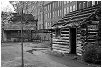 Fort Nashborough. Nashville, Tennessee, USA (black and white)