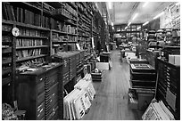 Inside poster print shop, Hatch Show,. Nashville, Tennessee, USA ( black and white)