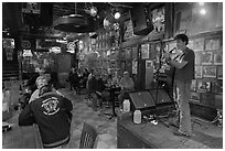 Club with live music performance. Nashville, Tennessee, USA ( black and white)