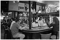 Inside a Beale Street bar. Memphis, Tennessee, USA ( black and white)