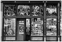 Store on Beale Street by night. Memphis, Tennessee, USA ( black and white)